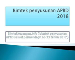 Bimtek penyusunan APBD 2018