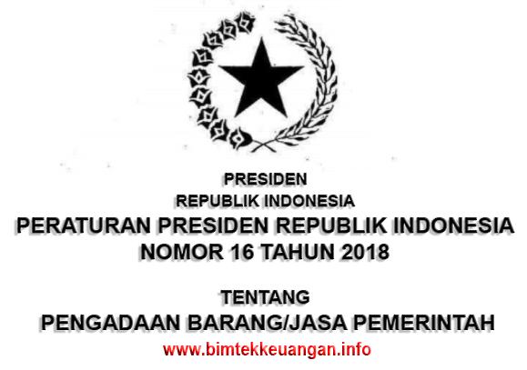 Bimtek Peraturan Presiden No. 16 Tahun 2018